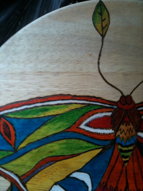Decorative Wooden Stool Moth by lamaswenson 4 Decorative Wooden Stool Moth by lamaswenson