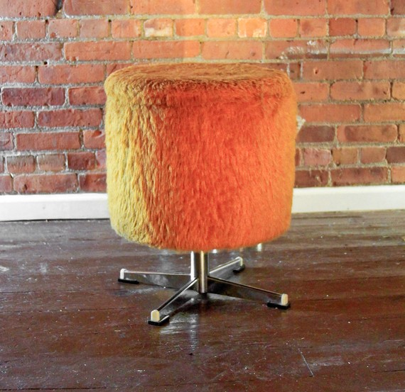 Orange Vintage Storage Stool by wesbenn 1 Orange Vintage Storage Stool by wesbenn