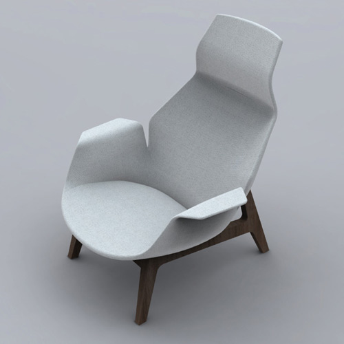 Collection Poliform 2011 Ventura Lay Seat Grey Left