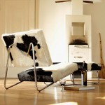 Lounge Chair Decoration Cow Leather Display