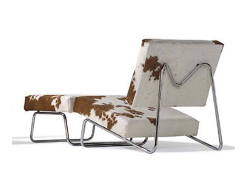 Lounge Chair Decoration Cow Leather by Herbert Hirche