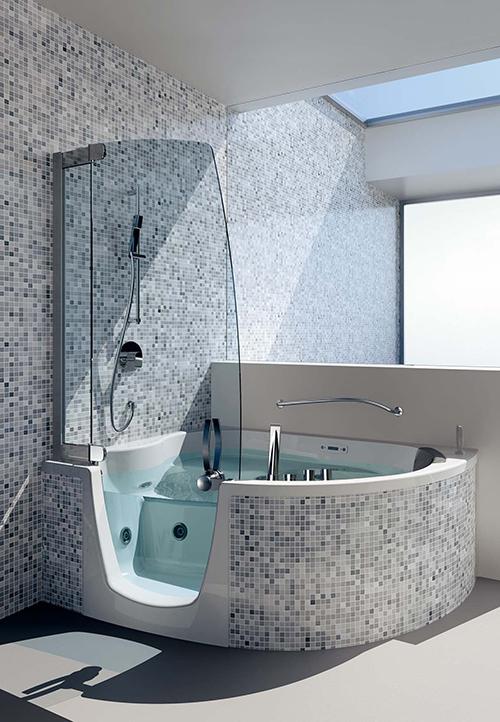 Modern Whirlpool Shower Double Combo