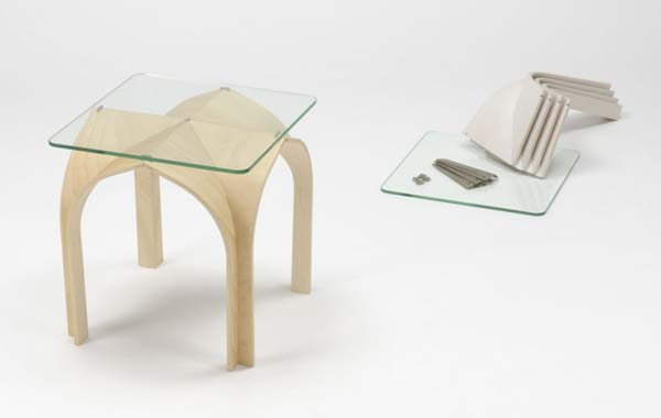 The combination Technique Modern and Gothic by Nobu Miake Modern Gothic Design Table by Nobu Miake