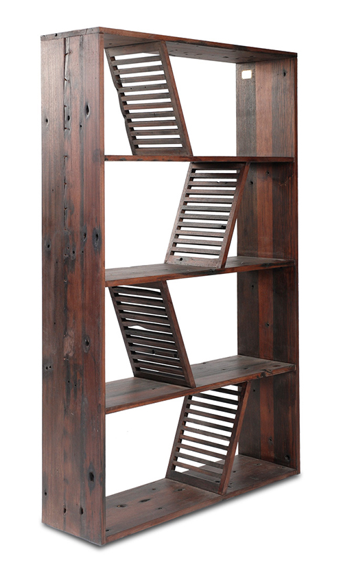 Beautiful Gotten back Wood made Bookcase - Shipwood Deep just by Model Just for Place 1