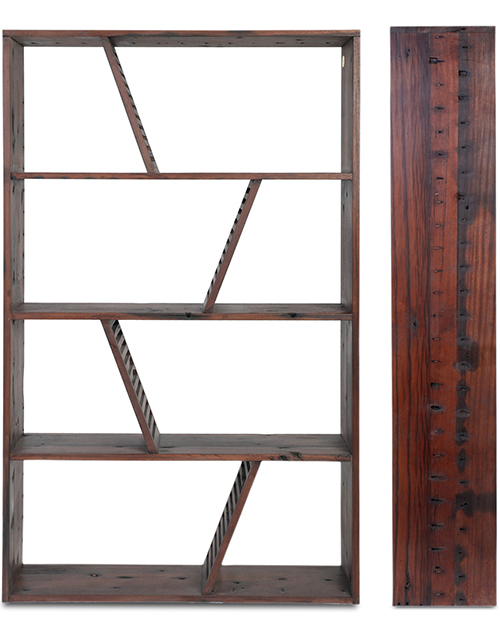Beautiful Gotten back Wood made Bookcase - Shipwood Deep just by Model Just for Place 2