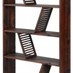 Beautiful Gotten back Wood made Bookcase - Shipwood Deep just by Model Just for Place 3