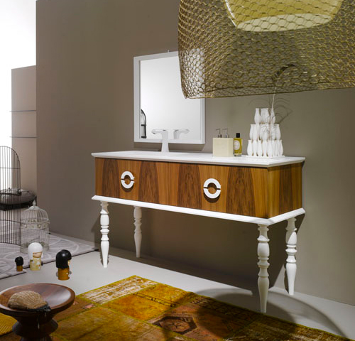 Delightful Fire wood Vanities just by Ypsilon