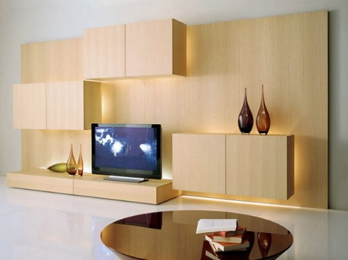 Modern Entertainment Wall Unit by Acerbis international