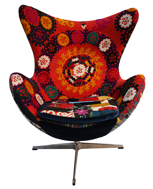 Present day Upholstered Armchairs by way of KMP 1