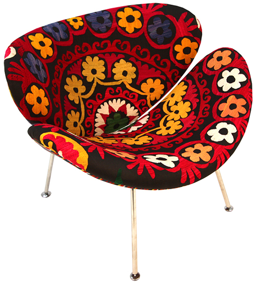 Present day Upholstered Armchairs by way of KMP 3