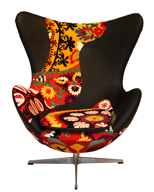 Present day Upholstered Armchairs by way of KMP 5