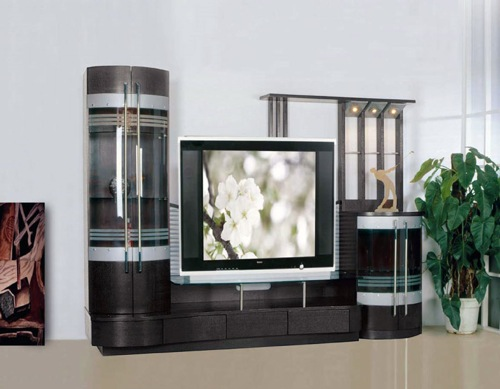 The Wenge Entertainment Wall Unit from ESF Furniture 4 Awesome Amusement Walls Models