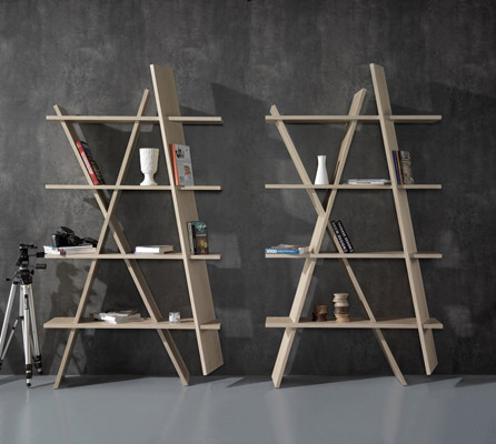 Wewood XI 2 times XI book shelf by Gonçalo Campos