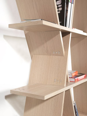 Wewood XI detail XI book shelf by Gonçalo Campos