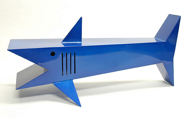 Handcraft Blue Shark Coffee Table Handcraft Blue Shark Coffee Table by Sculptor Bruce Gray